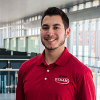 Jon Madrigal credits his involvement with OTEAM -- an orientation program -- for helping him develop the skills that will make speaking at IUPUI's commencement possible. Photo courtesy of Jon Madrigal